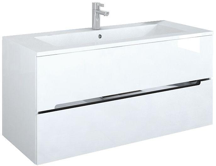 Oristo Silver szafka z umywalką Alpina 120x55x44cm biały połysk OR33-SD2S-120-1-C/UME-AL-120-92