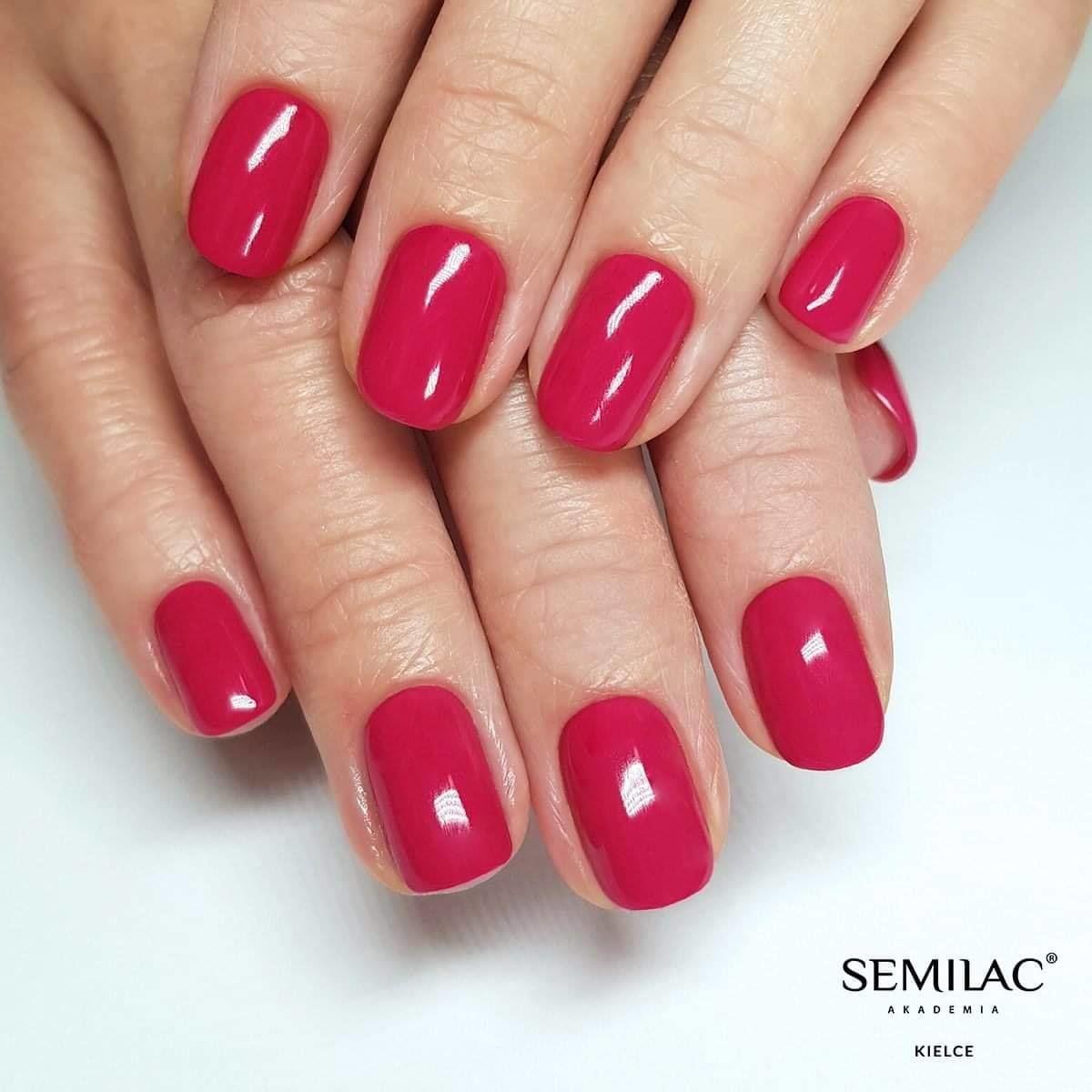 SEMILAC 066 Glossy Cranberry UV LED Lakier Hybrydowy 7ml
