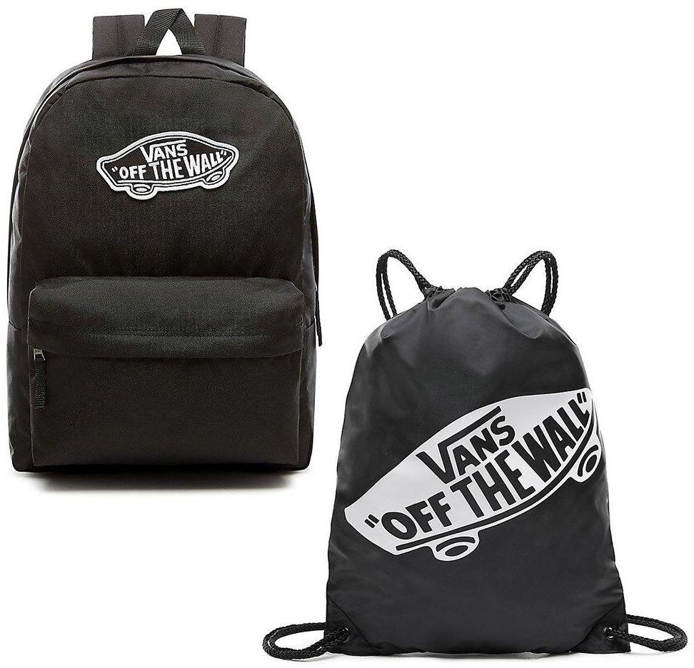 Plecak szkolny VANS Realm Backpack - VN0A3UI6BLK + Worek szkolny