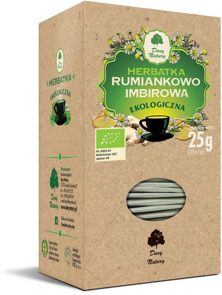 Herbatka rumiankowo - imbirowa bio (25 x 1 g) - dary natury