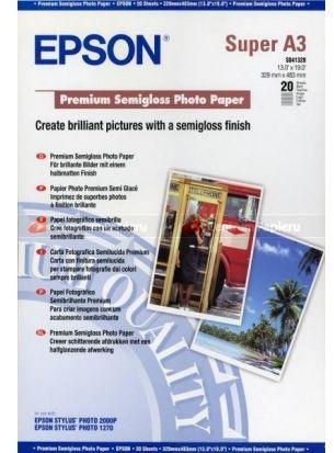 Papier A3+ EPSON Premium Semigloss photo 251g (20ark) (C13S041328)