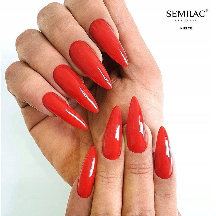 SEMILAC 063 Legendary Red UV LED Lakier Hybrydowy 7ml