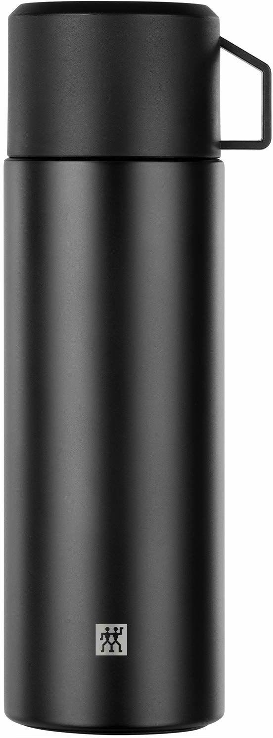 Zwilling Termos termos, wbudowana filiżanka, dzbanek termiczny, izolacja z podwójnymi ściankami, 1 l, wysokość: 28, 1 cm, czarny