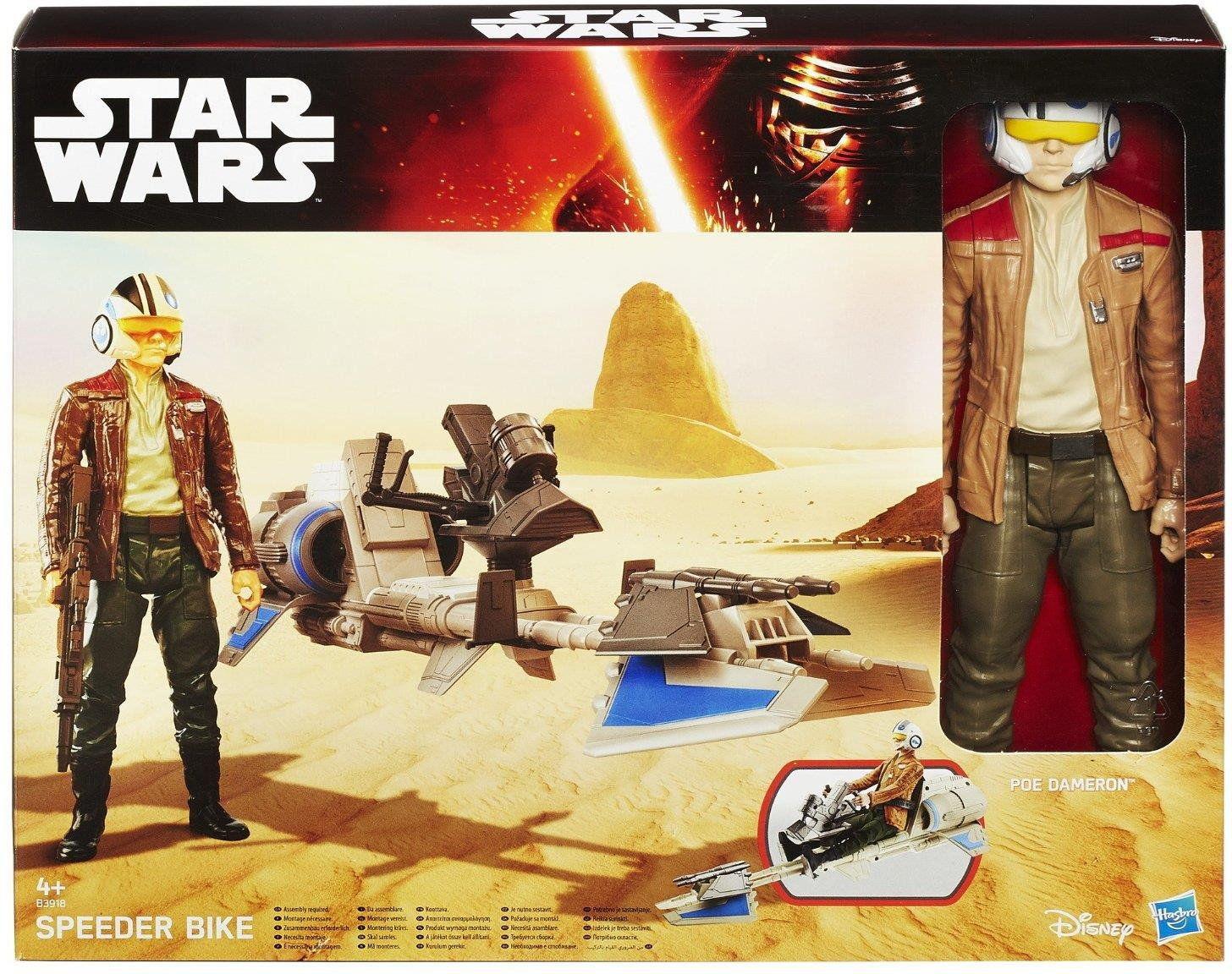 Hasbro Star Wars - Figurka 30 cm Poe Dameron + pojazd B3918 B3917