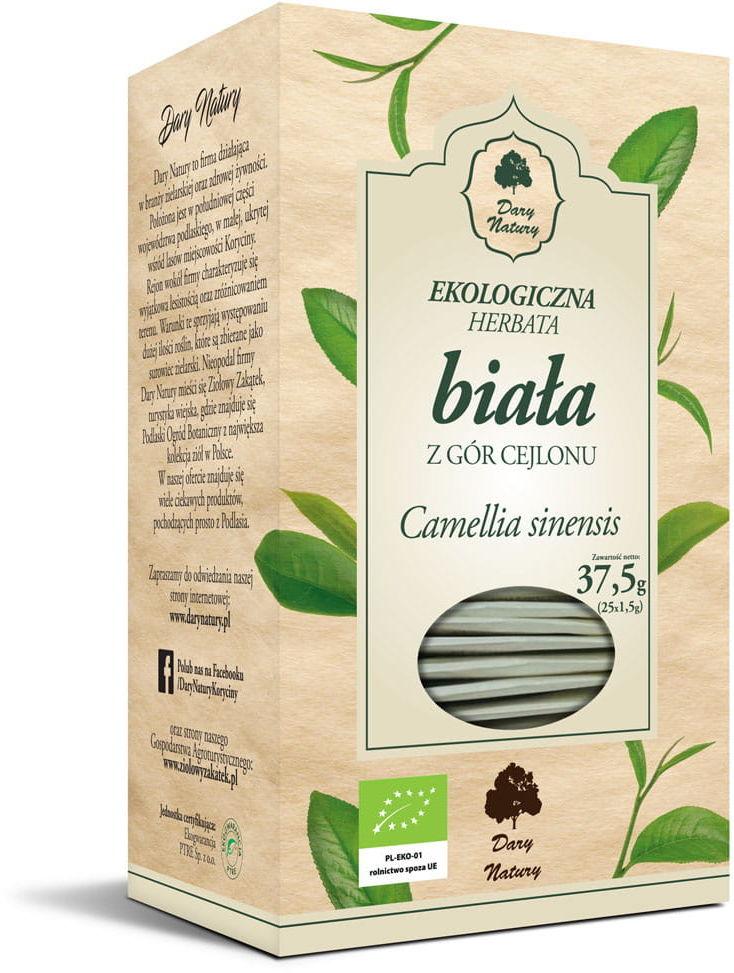 Herbata biała cejlońska bio (25 x 1,5 g) - dary natury