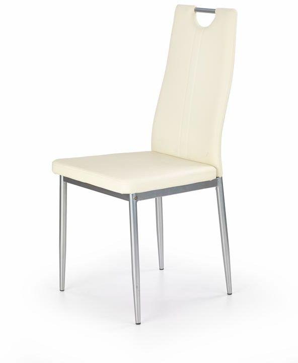 Krzesło K202 kremowe na metalowych nogach  KUP TERAZ - OTRZYMAJ RABAT