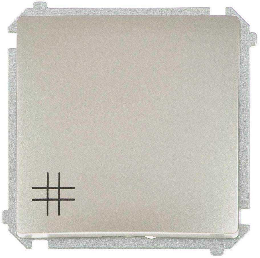 Włącznik krzyżowy BASIC Srebrny SIMON
