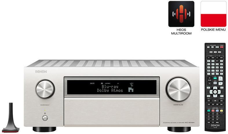 Denon AVC-X6700H Silver Amplituner Kina Domowego 8K 13.2 Alexa, WiFi, AirPlay, HEOS