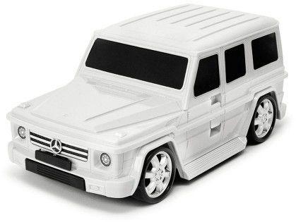 Mercedes-Benz G-class - biały - Walizka samochód Welly Ridaz