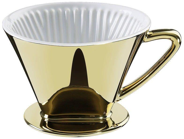 Cilio - filtr do kawy, rozmiar 4,  14,00 cm, złoty - złoty
