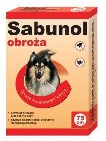 Sabunol czerwona obroża p. pchłom i kleszczom dla psa 75 cm