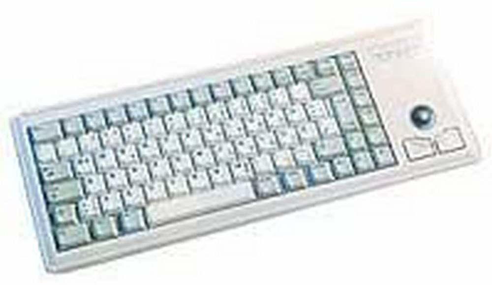 CHERRY G84-4400LUBEU-0 LUBEU-0 Tastatur USB 84 Tasten IBM MF US + Trackball Hellgrau