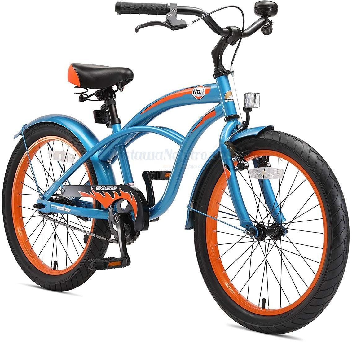 """Rower dla dzieci 20"""" BIKE STAR GERMANY Cruiser niebieski"""
