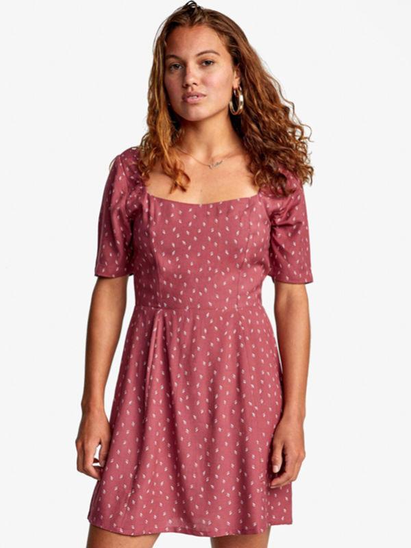 RVCA PEACHY PLUM BERRY krótkie sukienki