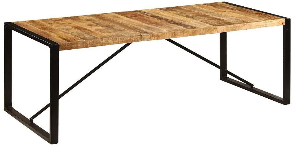 Brązowy stół w stylu loftowym 100x220  Veriz 6X