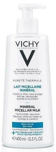 Vichy Purete Thermale Mineralne Mleczko Micelarne dla cery suchej 400ml