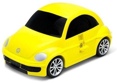 Volkswagen the Beetle - żółty - Walizka samochód Welly Ridaz