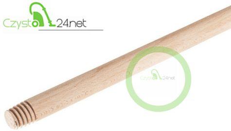 Kij drewniany z gwintem frezowanym 120