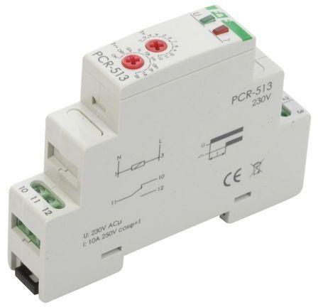 Przekaźnik czasowy 1P 10A 0,1sek-576h 230V AC opóźnione załączenie PCR-513