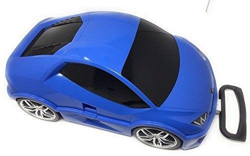 Lamborghini Huracan - niebieski - Walizka samochód Welly Ridaz