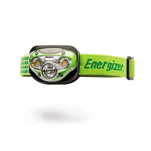 Energizer Latarka czołowa LED Vision HD+, 3 białe, 2 czerwone diody LED, możliwość ściemniania, regulowane nachylenie, opaska na głowę, 3 baterie AAA