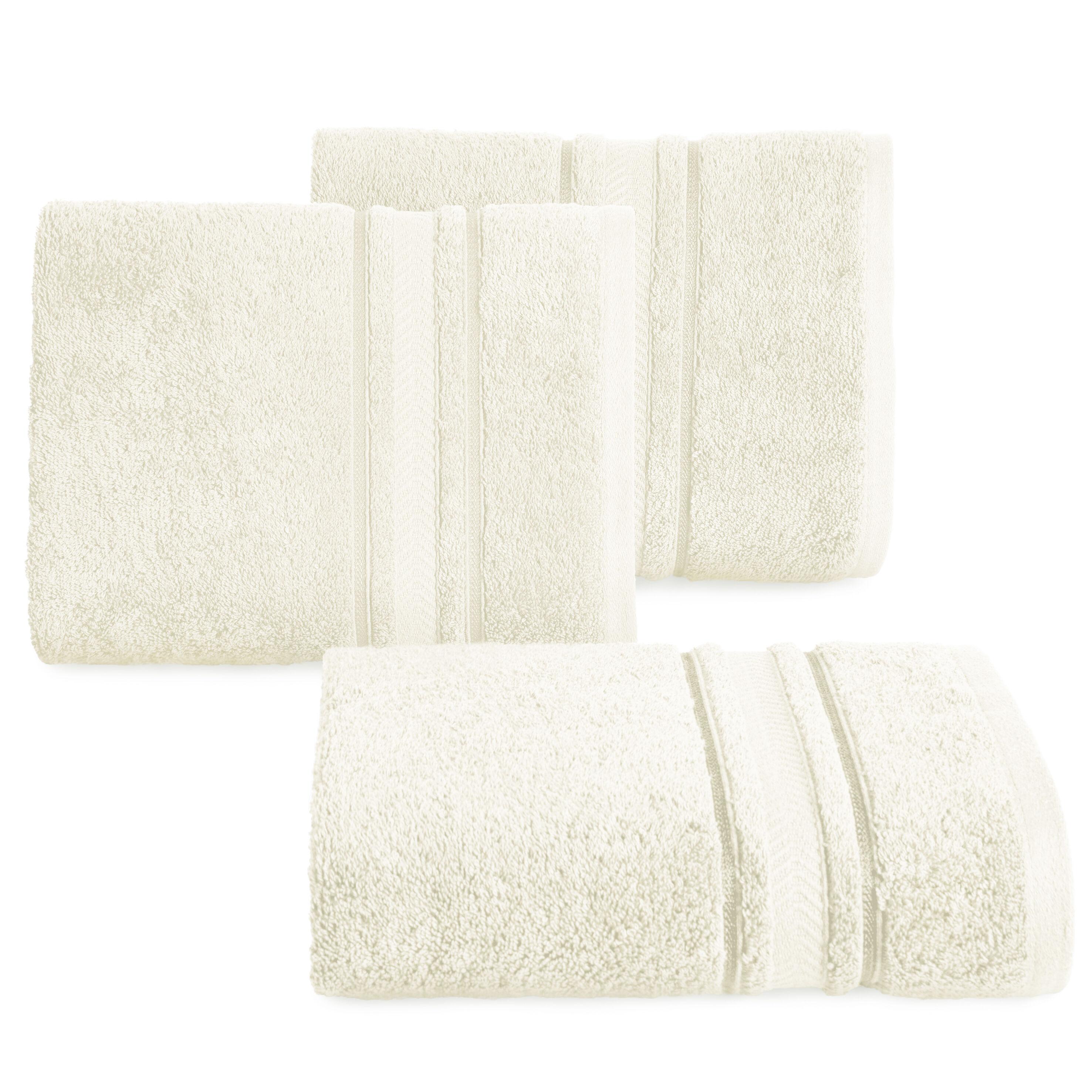 Ręcznik Nefre 50x90 kremowy frotte z bawełny egipskiej 550g/m2