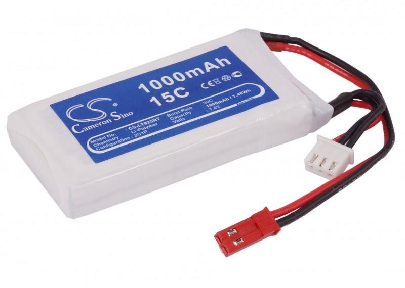 1000mAh 7.40Wh Li-Polymer 7.4V 2S 15C (Cameron Sino)