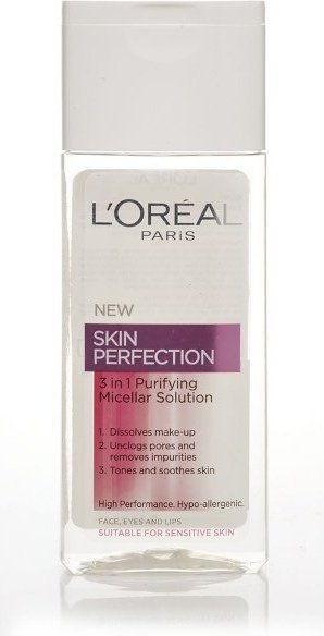 LOréal Paris Skin Perfection oczyszczający płyn micelarny 3 w 1 200 ml