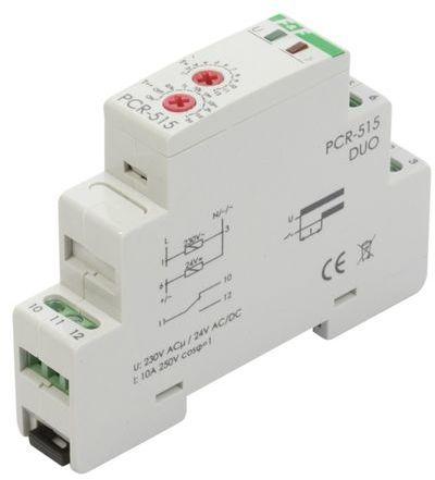 Przekaźnik czasowy 1P 10A 0,1sek-576h 230V AC, 24V AC/DC opóźnione wyłaczenie PCA-514DUO