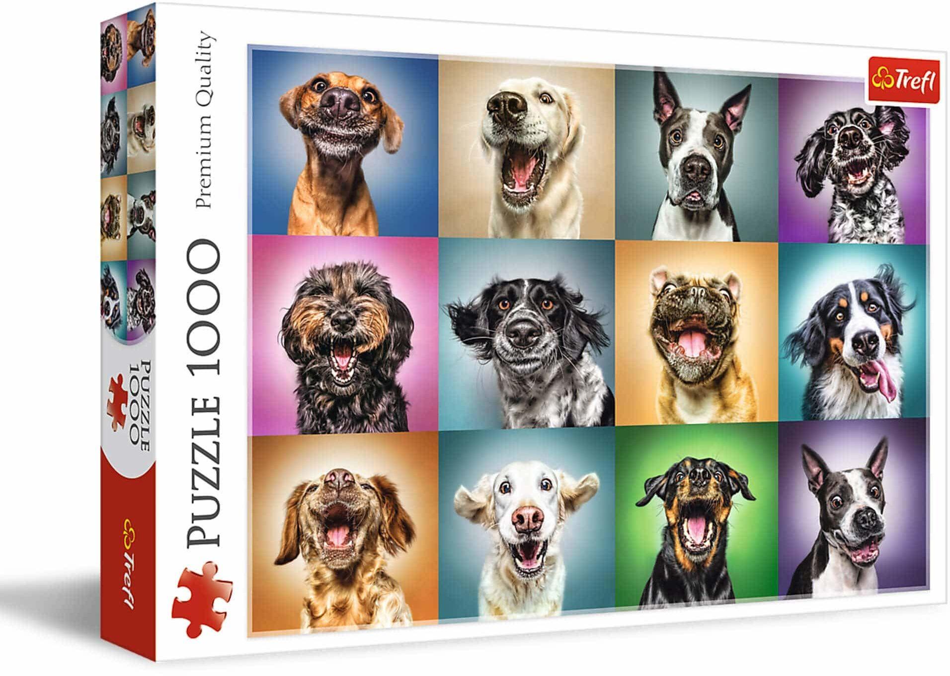 Trefl - Zabawne Psie Portrety - 1000 Elementów, Psy, Śmieszne Psy, Zabawne Psy, Psie Portrety, Układanka DIY, Kreatywna Rozrywka, Prezent, Zabawa, Puzzle Klasyczne dla Dorosłych i Dzieci od 12 Lat