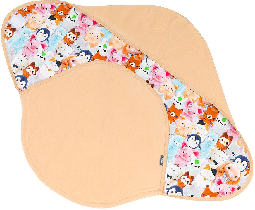 Otulacz dla niemowląt do wózka gondoli fotelika - Pluszaki / miodowy