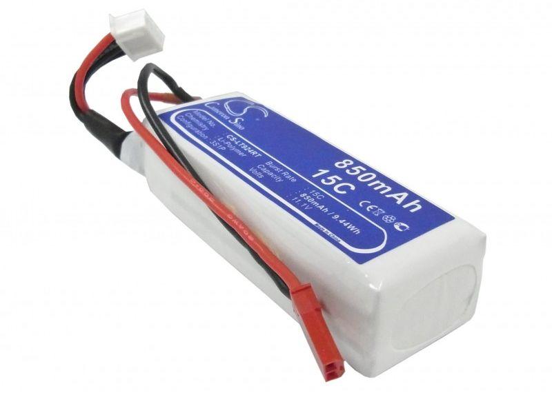 850mAh 9.44Wh Li-Polymer 11.1V 3S 15C (Cameron Sino)