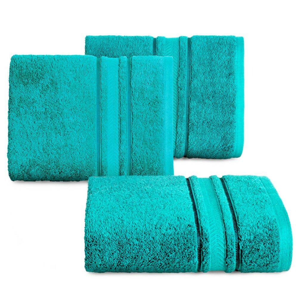 Ręcznik Nefre 50x90 turkusowy frotte z bawełny egipskiej 550g/m2