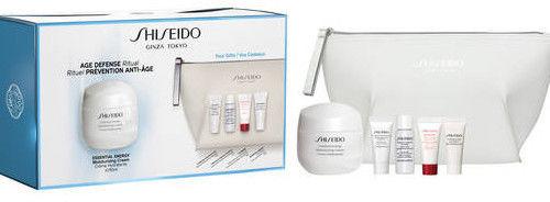 Shiseido Zestaw Essential Energy krem 50ml + pianka 5ml + tonik 7ml + koncentrat 5ml + kosmetyczka + krem - 5ml - Darmowa Wysyłka od 149 zł