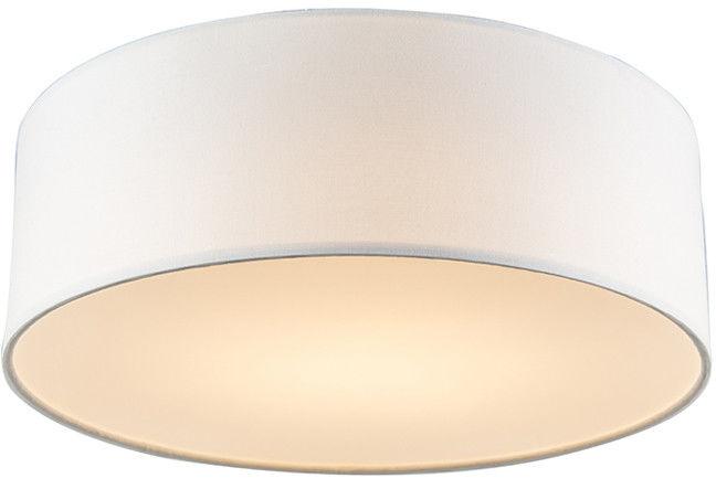 QAZQA Lampa sufitowa biała 30 cm w tym LED - Drum LED