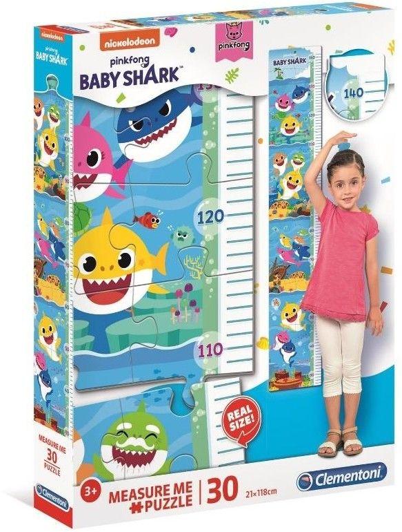 Puzzle 30 elementów Measure Me Baby Shark