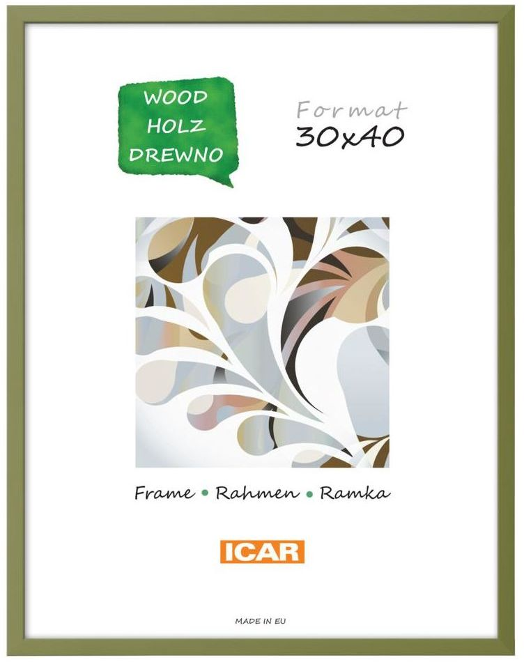 Ramka na zdjęcia Pinia 30 x 40 cm oliwkowa drewniana
