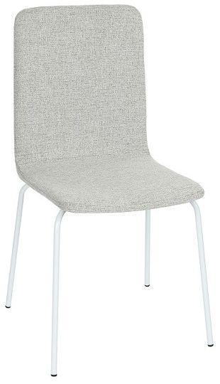 Krzesło Skin Steel, tapicerowane, na metalowej podstawie, proste, w skandynawskim stylu, minimalistyczne, do jadalni, do kawiarni