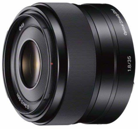 Sony E 35mm F1.8 OSS, stałogniskowy obiektyw szerokokątny dedykowany do aparatów pełnoklatkowych z mocowaniem E, odpowiedni do serii a6000, a5100, a5000 i Nex, E-Mount, czarny, (SEL35F18OSS)