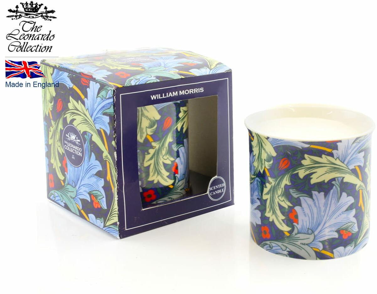 Lesser & Pavey/Leonardo Coll., świeca zapachowa - William Morris Blue