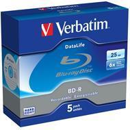 Verbatim BluRay BD-R 25 GB x6 5 szt. SINGLE LAYER DATALIFE