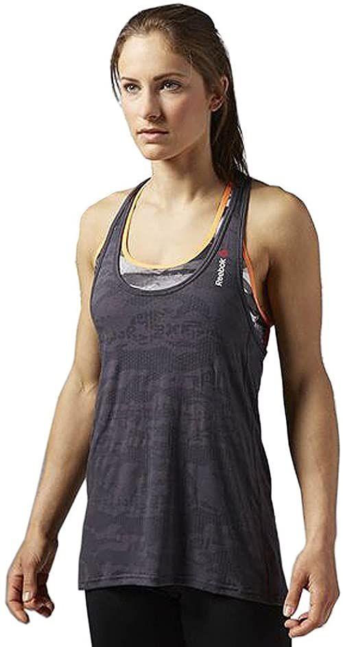 Reebok Damska koszulka bez rękawów One Series Burnout Tank, Coal, L