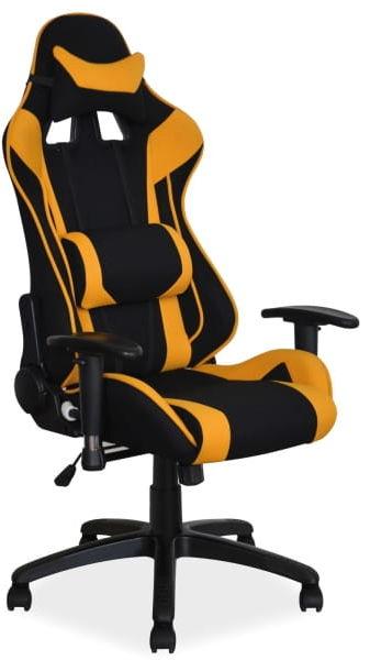 Fotel gamingowy obrotowy VIPER żółty/czarny
