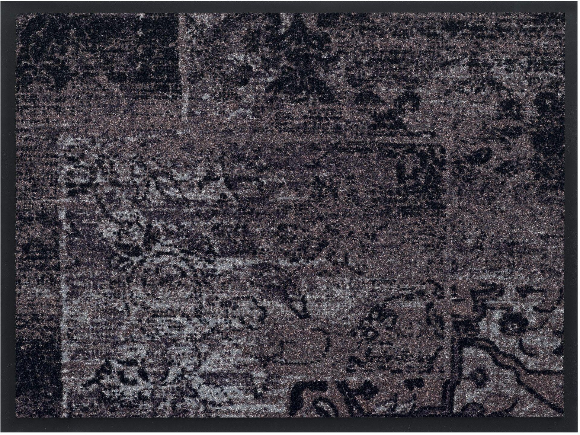 HMT 5800078 wycieraczka w stylu vintage, z poliamidu, antracyt 80 x 120 cm