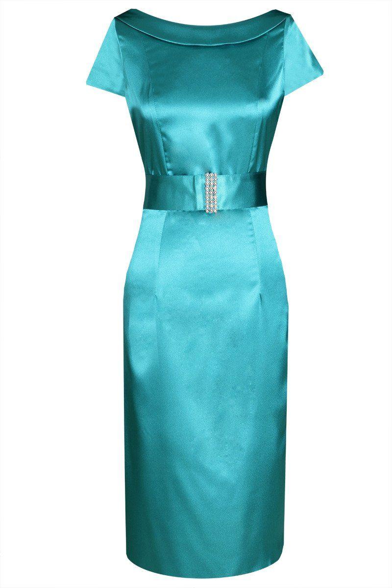 Sukienka FSU199 TURKUSOWY ŚREDNI