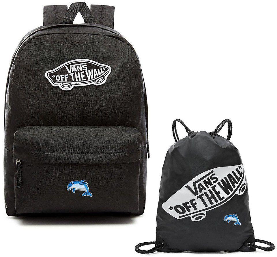 Plecak szkolny VANS Realm Backpack + Worek Custom Dolphin Delfin
