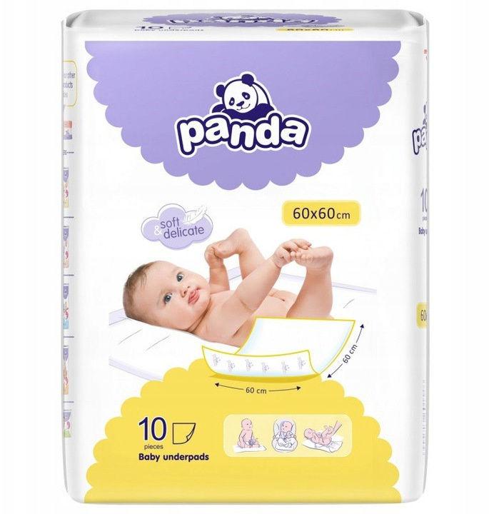 Podkłady do przewijania Bella Panda 60x60, 10 szt.