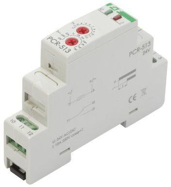 Przekaźnik czasowy 1P 10A 0,1sek-576h 24V AC/DC opóźnione załączenie PCR-513-24V