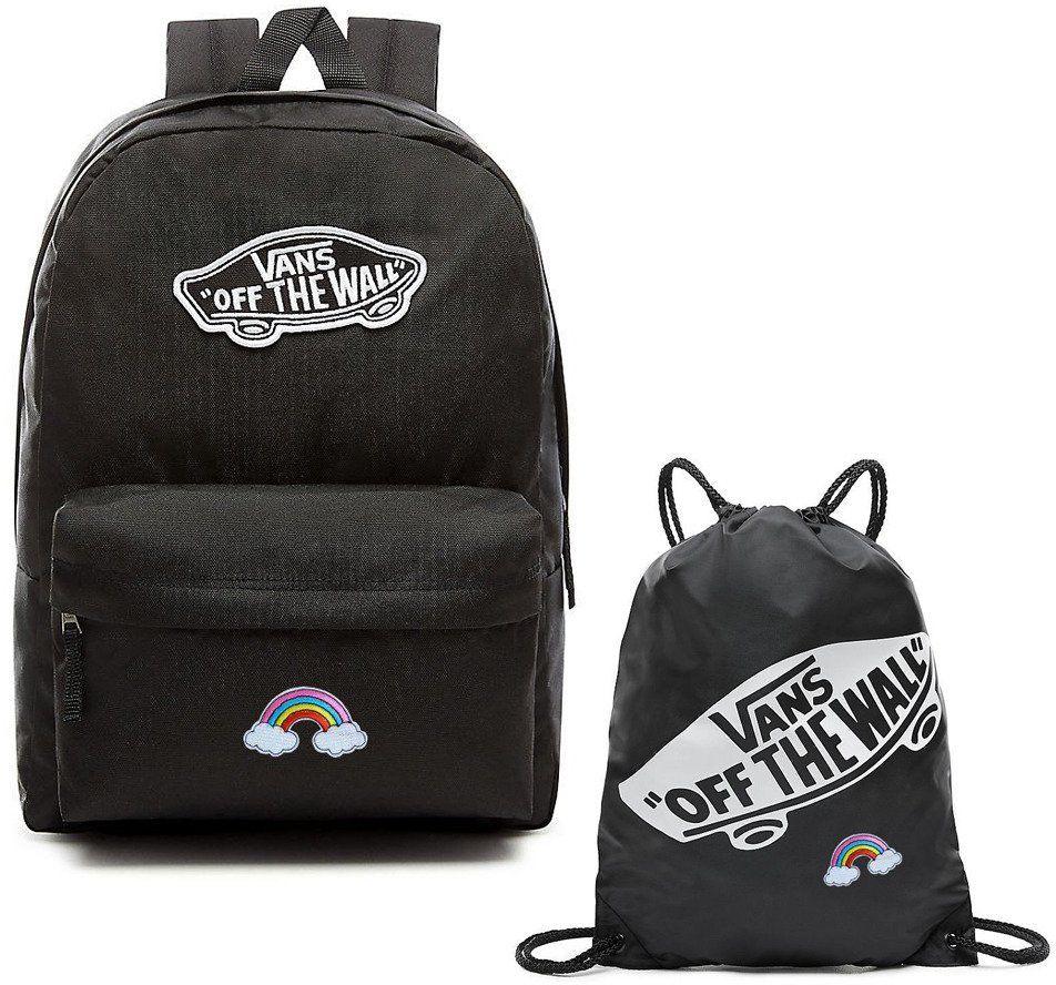 Plecak szkolny VANS Realm Backpack + Worek Custom Rainbow Tęcza