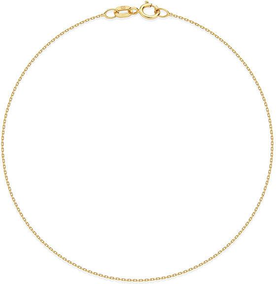 Złota bransoletka łańcuszkowa 333 splot ankier